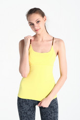 A61Y1126 / Strappy hot flow pleated tank