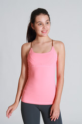 A71Y1126 / Strappy hot flow pleated tank
