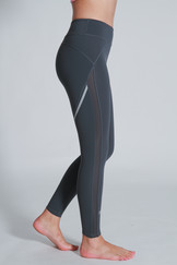 A71Y1312 / side panelled mesh full length leggings