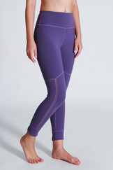 A71Y1313 / Here and There back slit ankle length leggings